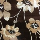 BROWN/BEIGE/CREAM FLORAL CARVED POLYPROPYLENE RUG 120X160