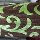BROWN/LIME GREEN POLYPROPYLENE CARVED RUG 120X160