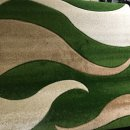 BEIGE/GREEN/CREAM POLYPROPYLENE CARVED RUG 120X160