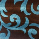 BROWN/TEAL POLYPROPYLENE CARVED RUG 120X160