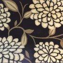 BROWN/BEIGE FLORAL POLYPROPYLENE CARVED RUG 120X160