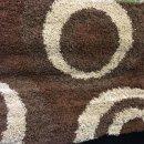 BROWN/BEIGE SHAGGY POLYPROPYLENE RUG 120X160