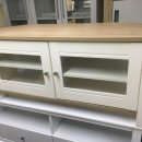 OAK/IVORY VENEER CORNER TV UNIT 2 DOORS 2 SHELVES